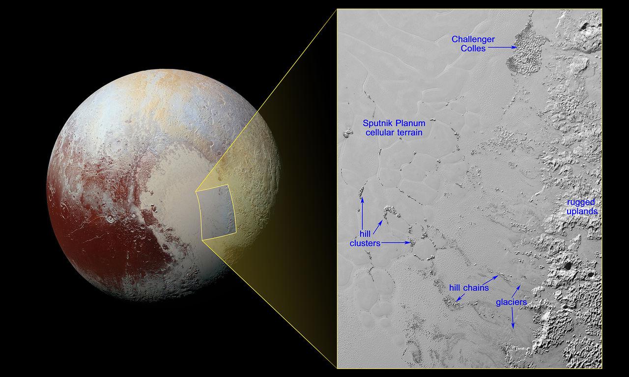 NASA visar upp flytande berg på Pluto