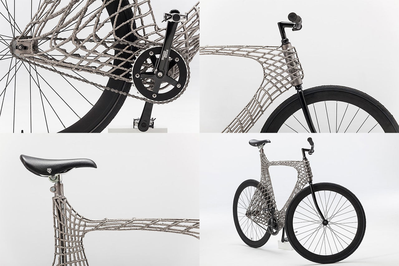 Studenter skriver ut cykelram i rostfritt stål