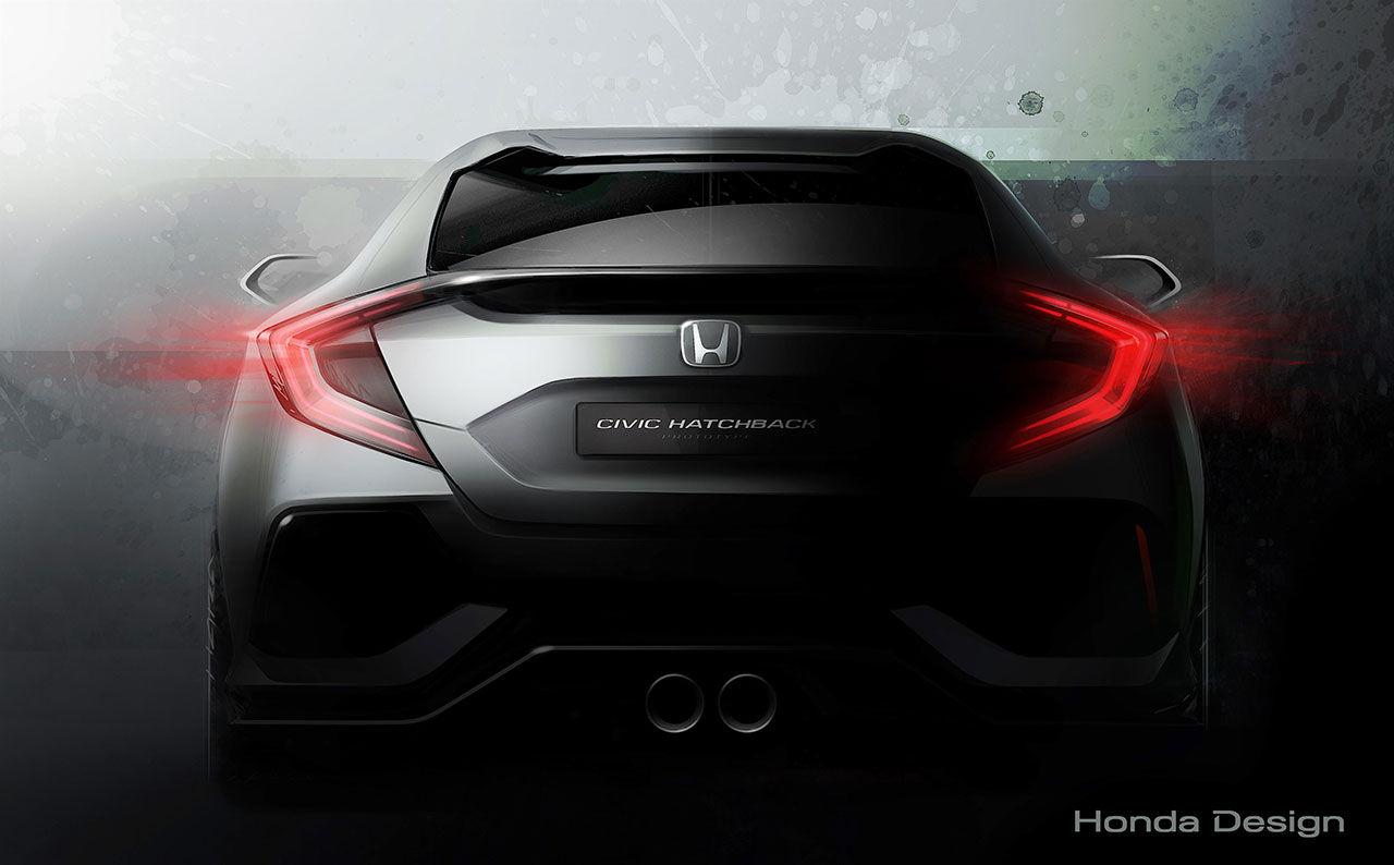 Honda visar prototyp av nya Civic i femdörrarsutförande i Genève