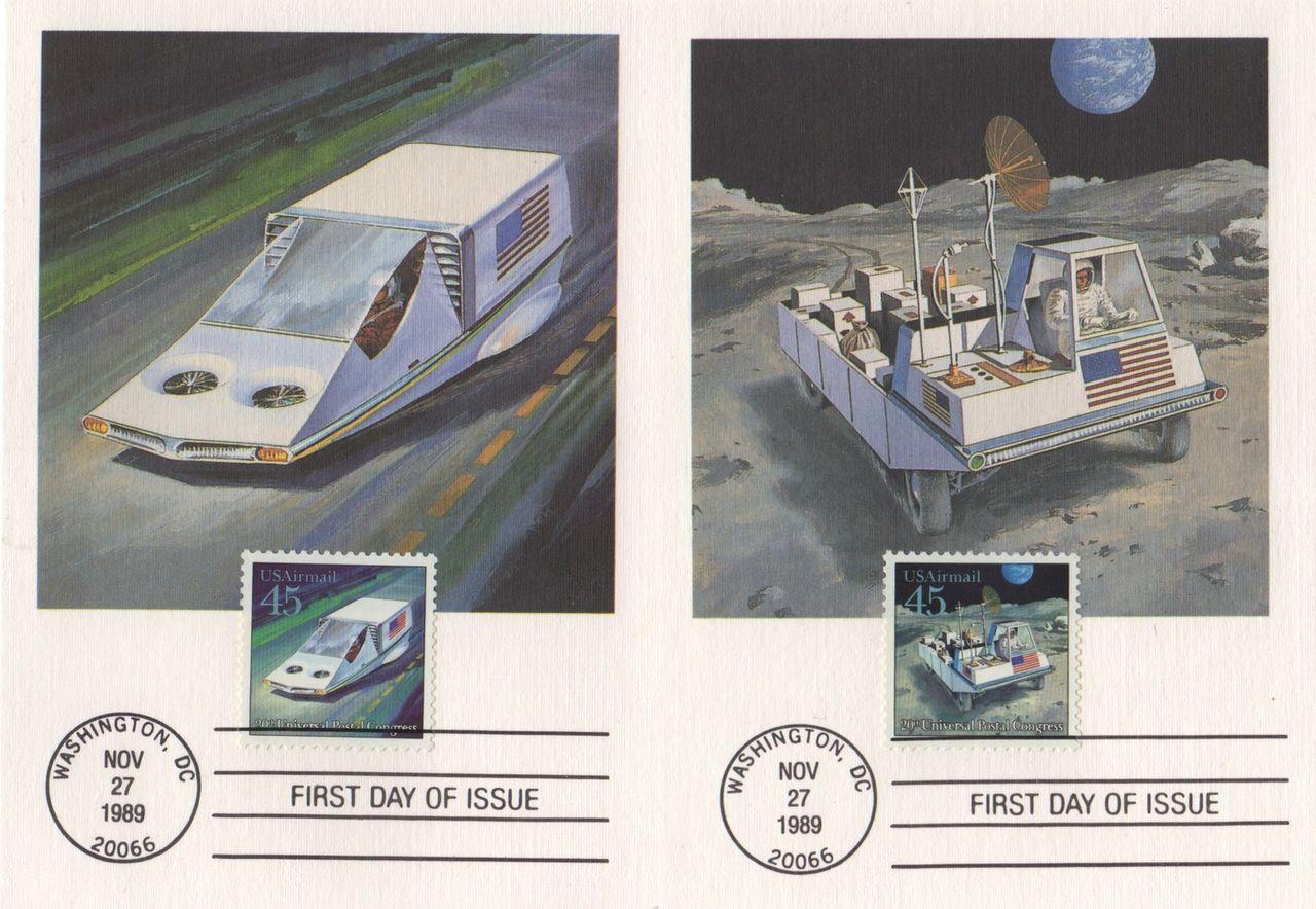 Amerikanska rymdfrimärken från 1989