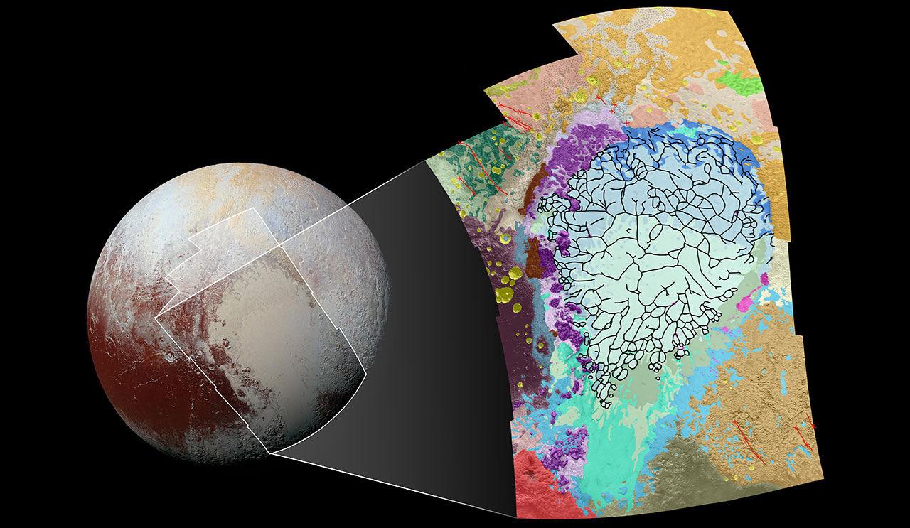 NASA släpper geologisk karta över Pluto