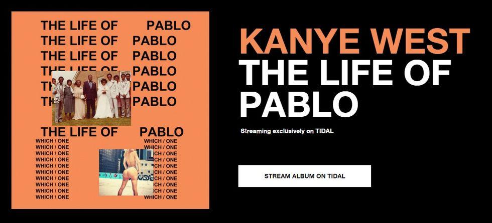 The Life of Pablo kommer endast vara tillgänglig via Tidal