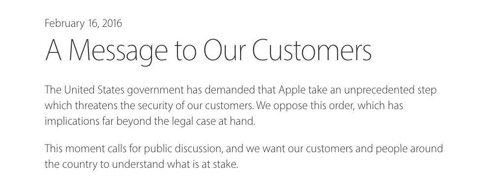 Tim Cook skriver öppet brev till Apples kunder