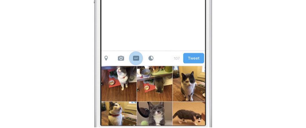Twitter får en dedikerad knapp för gif-animationer