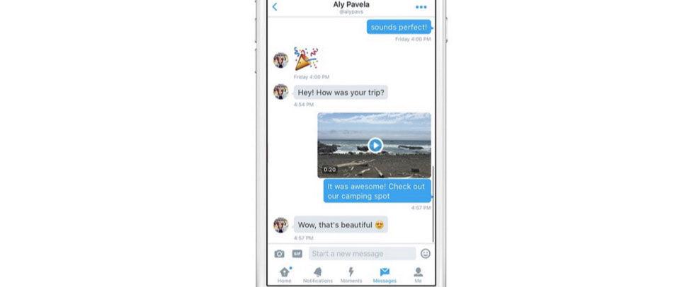 Nu kan man filma och posta direktmeddelanden med Twitter