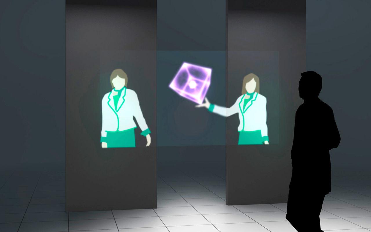 Mitsubishi utvecklar skärm som svävar i luften
