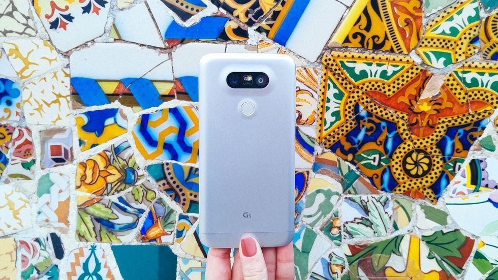 LG visar upp G5 på Mobile World Congress