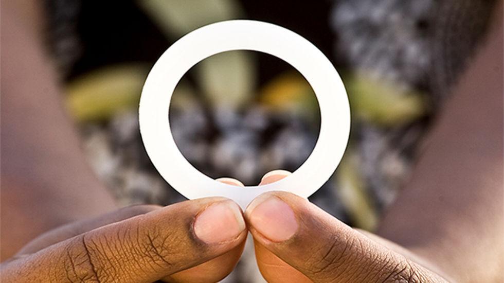 Ring som kan skydda kvinnor från att smittas av HIV