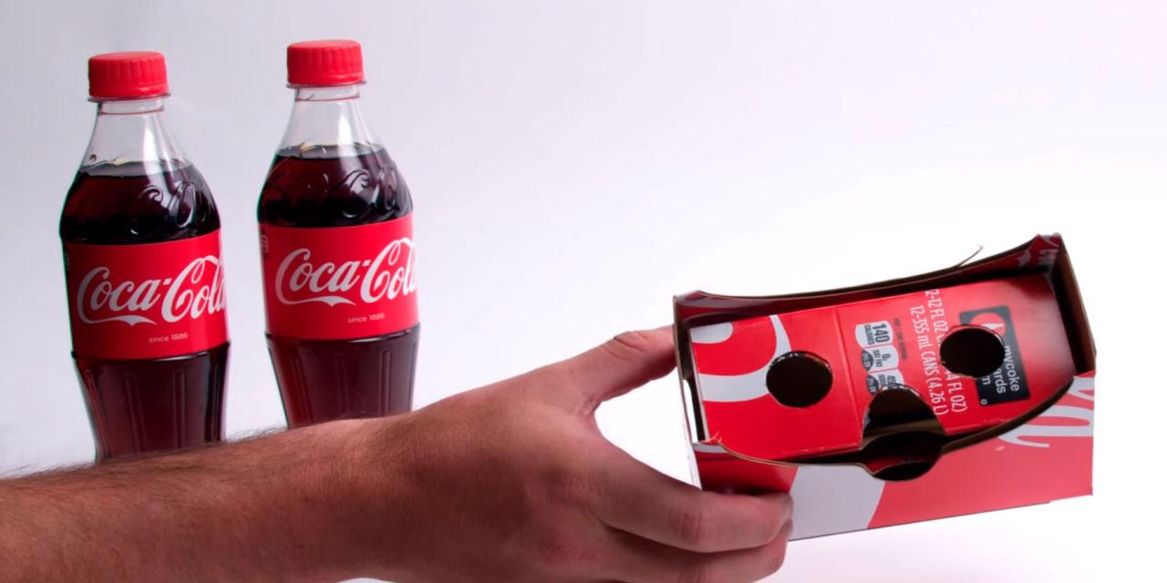 Gör VR-glasögon av Coca-Cola-förpackning