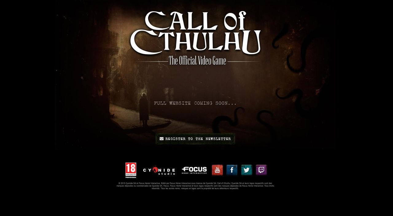 Call of Cthulhu har fått en ny hemsida