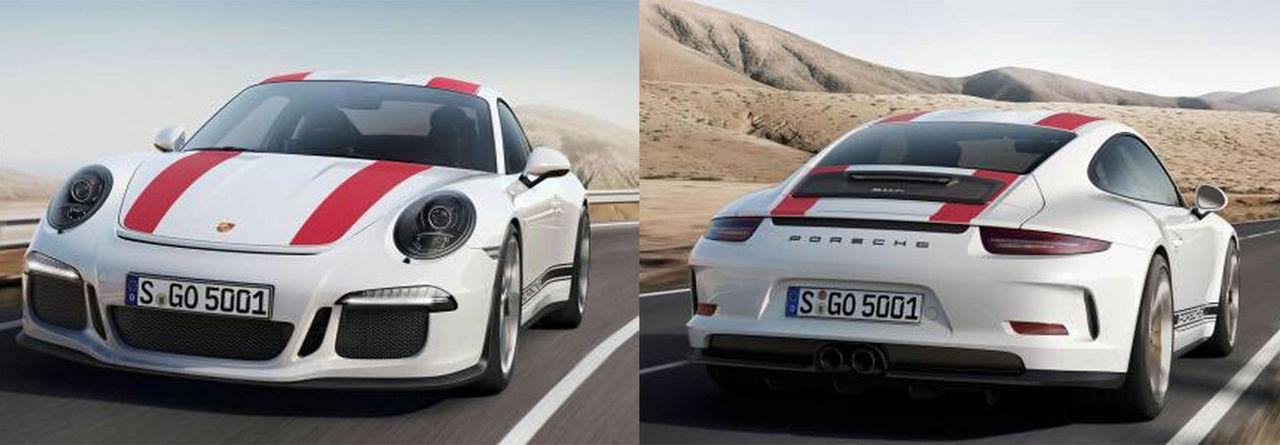 Porsche 911 R läcker ut