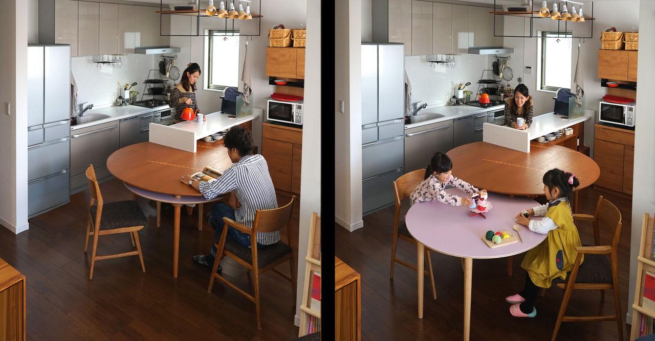 Smart bord med inbyggd bord för barnen