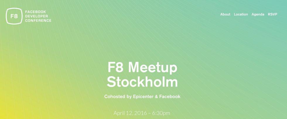 Facebooks utvecklarkonferens F8 kommer livestreamas i Stockholm