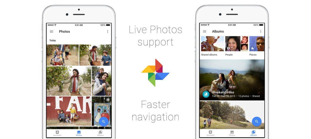 Google Photos får stöd för Live Photos