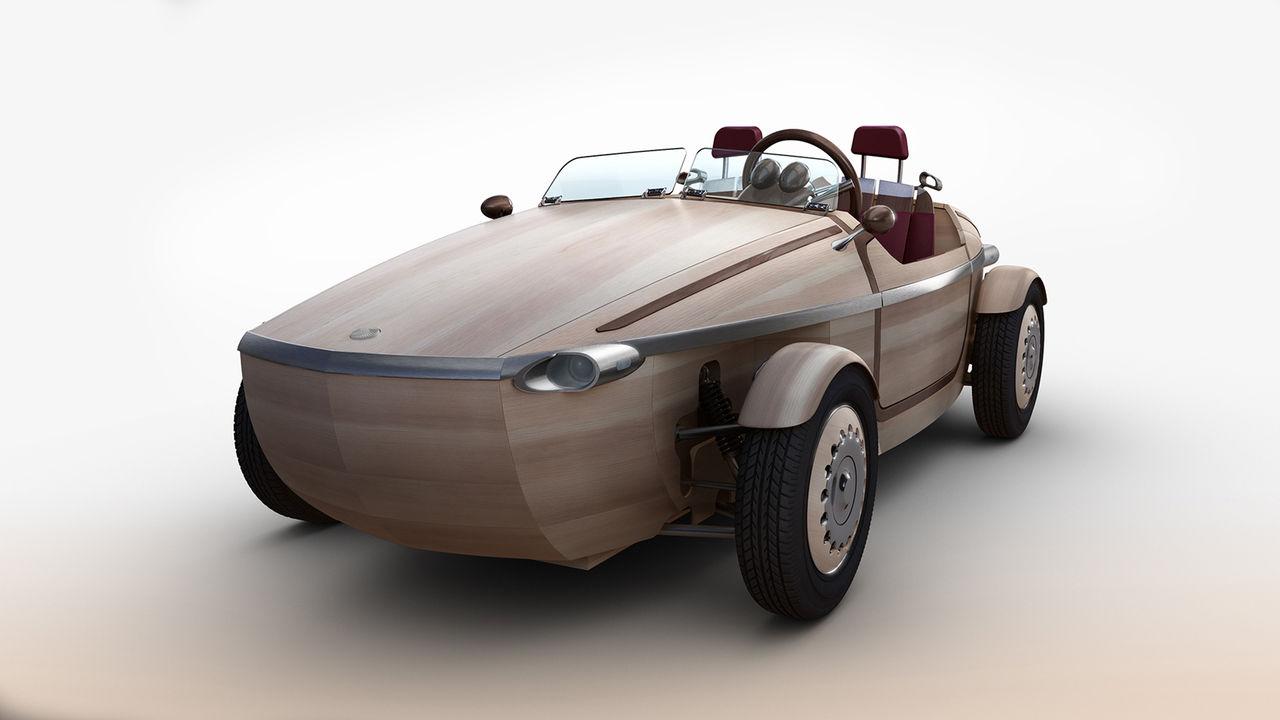 Toyota har med sig träbil till Milanomässan