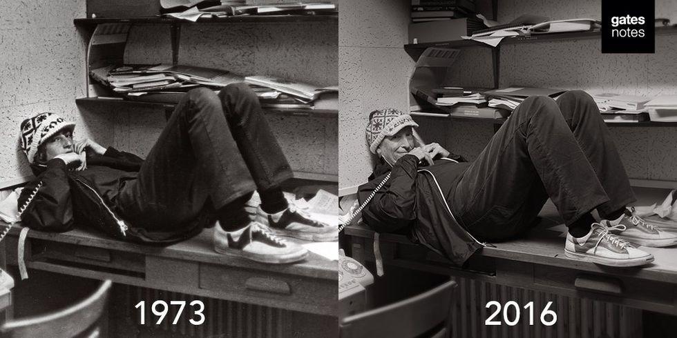 Bill Gates återskapar över 40 år gammal bild