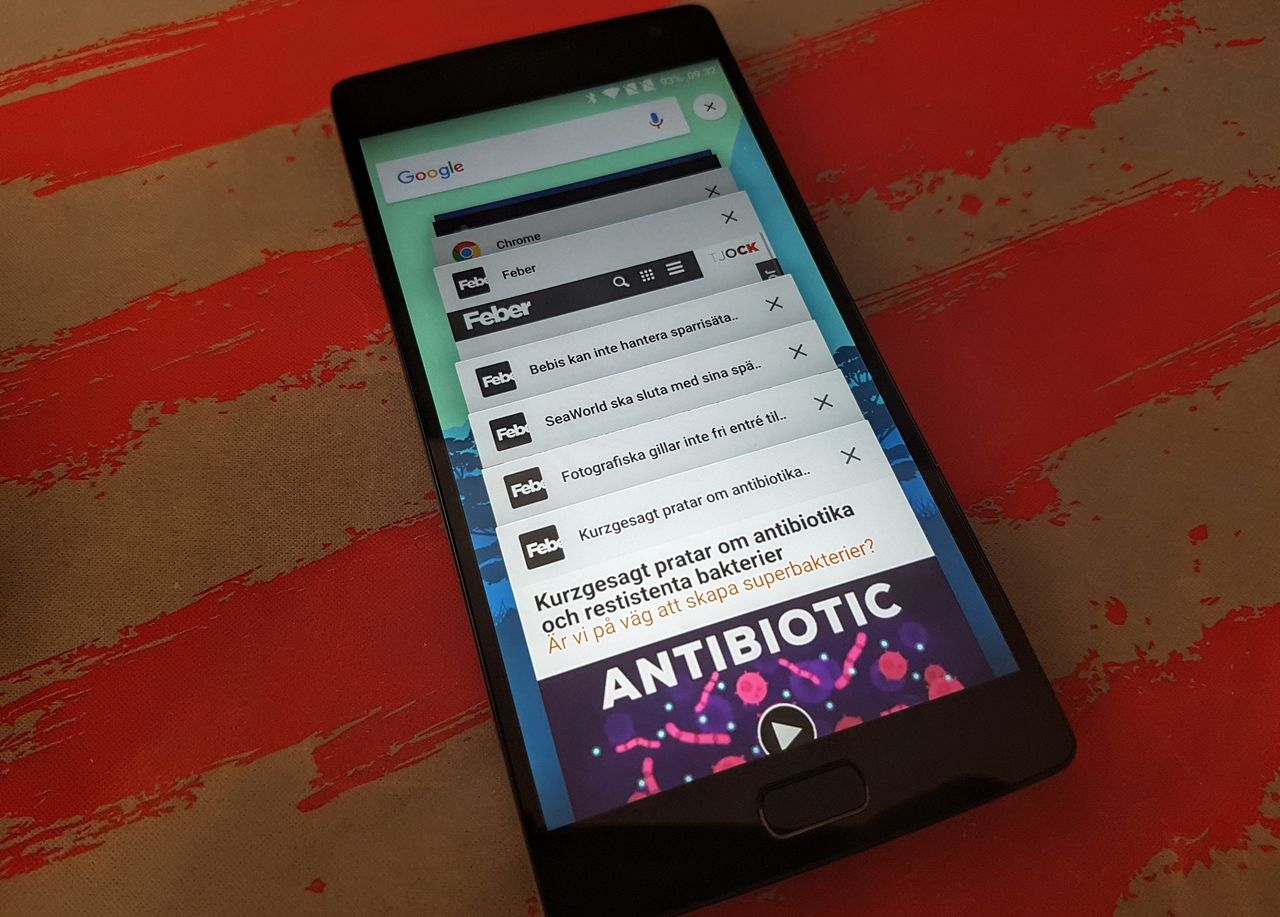 Android kombinerar inte längre appar och Chrome-flikar som standard
