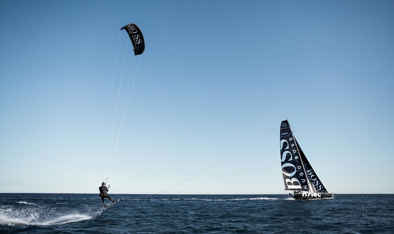 Kitesurf 85 meter upp i luften