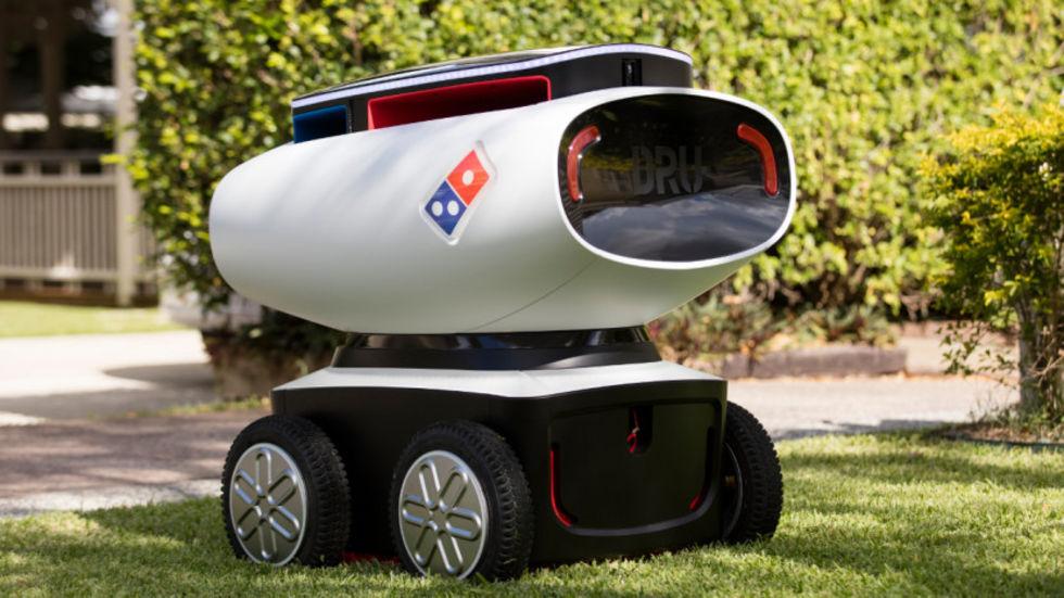 Robotbil levererar pizza på Nya Zeeland