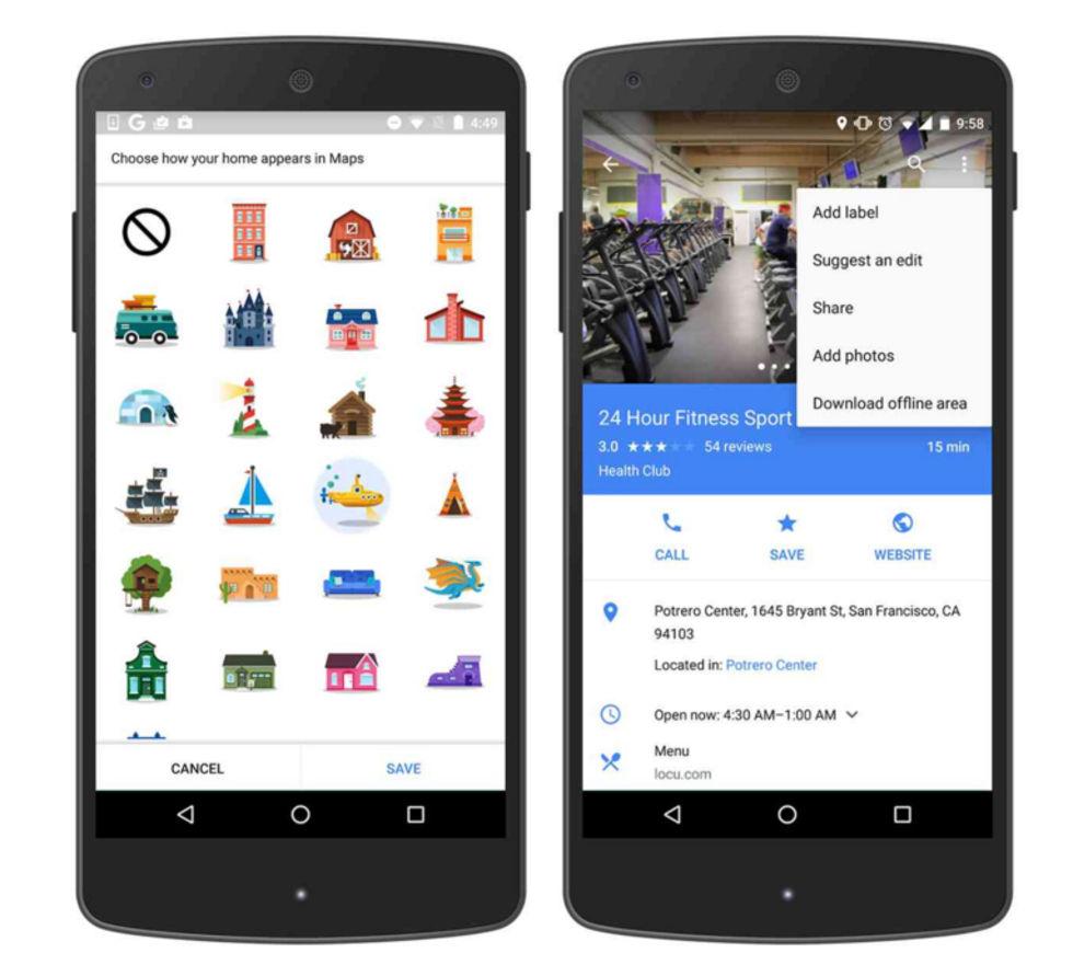 Nu kan du personifiera Google Maps med klistermärken