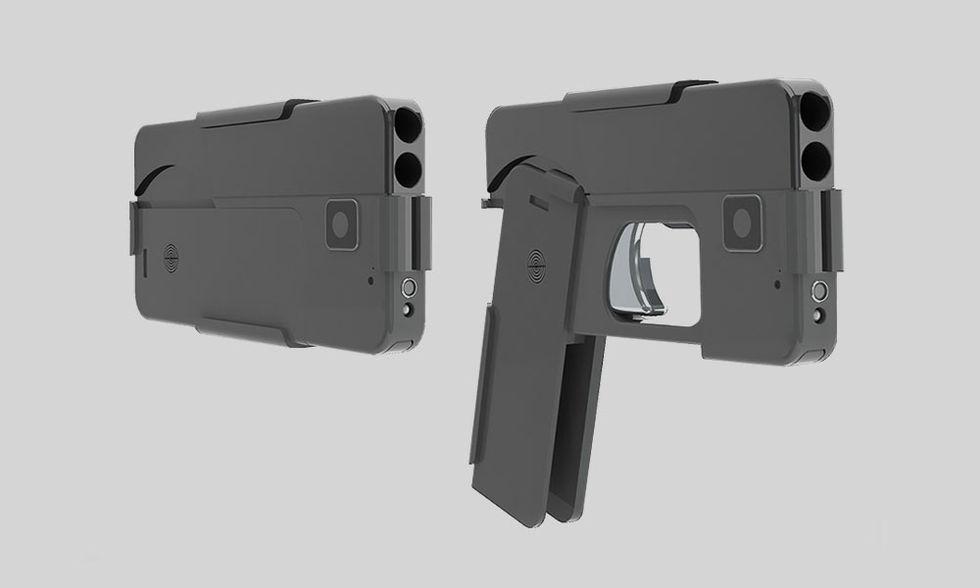 Pistol som ser ut som en mobiltelefon