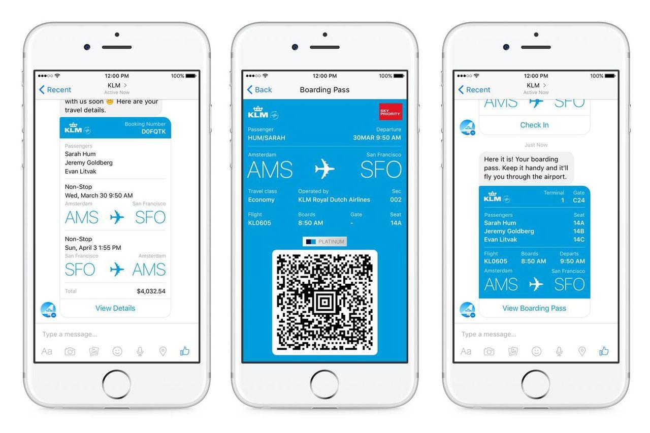 Nu kan man använda Facebook Messenger som boardingkort