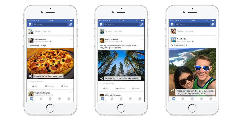 Artificiell intelligens börjar beskriva bilder på Facebook för synskadade