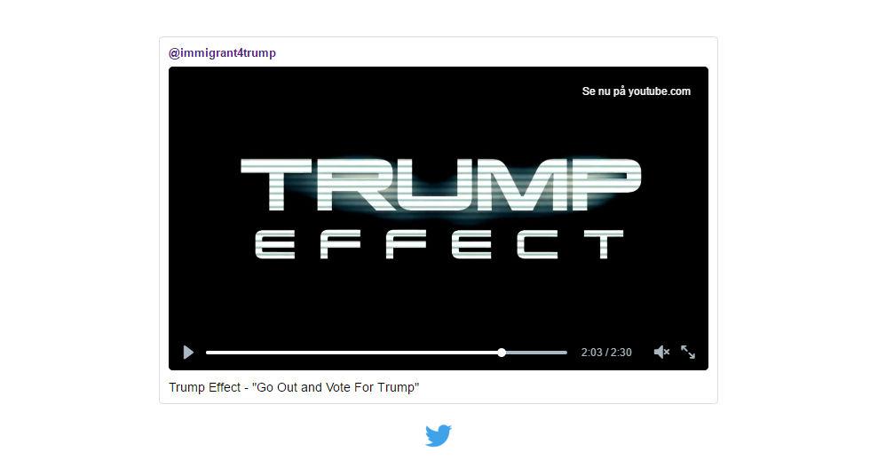 EA gillade inte hyllningsvideon till Trump