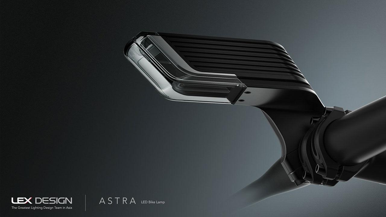 Intressant design på cykellampan Astra