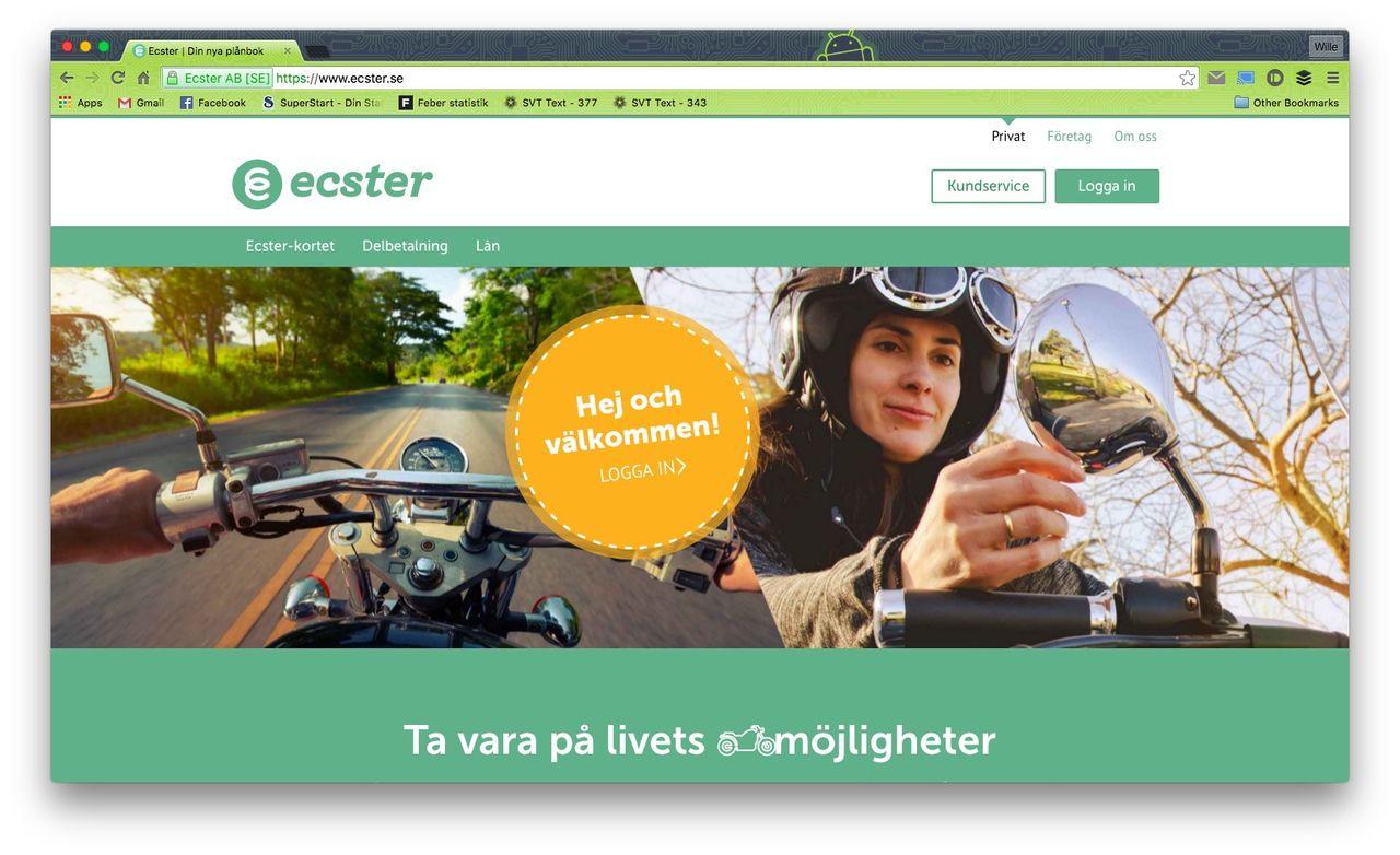 Handelsbanken lanserar den digitala banktjänsten Ecster