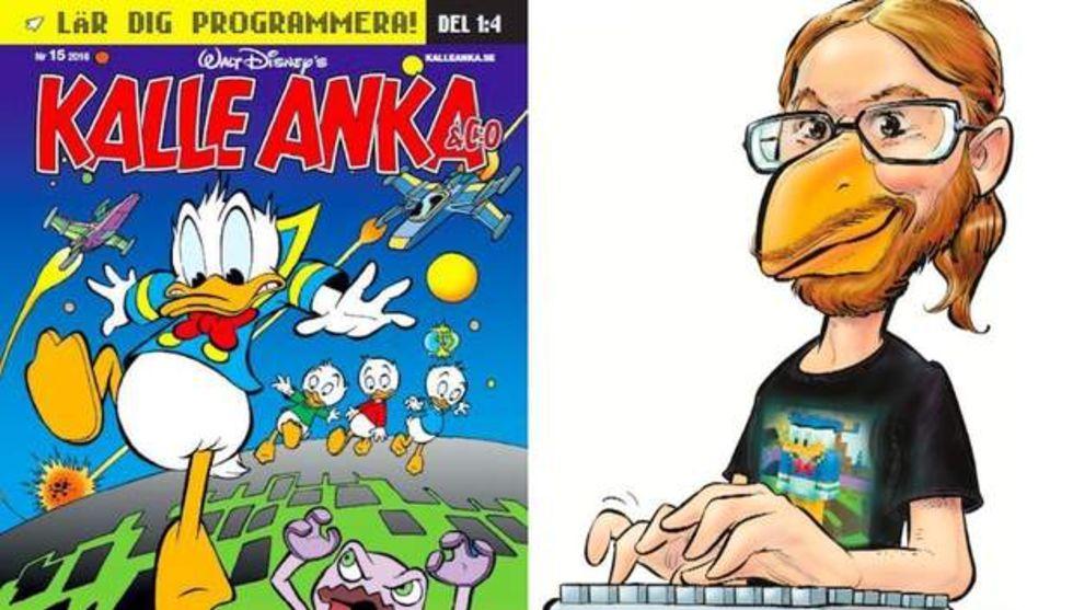 Kalle Anka har startat programmeringsskola