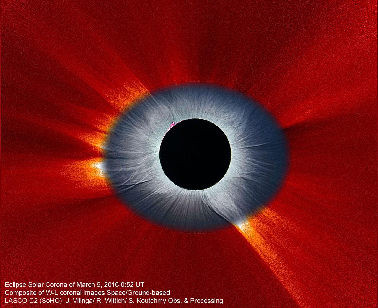 Grym bild på solförmörkelse