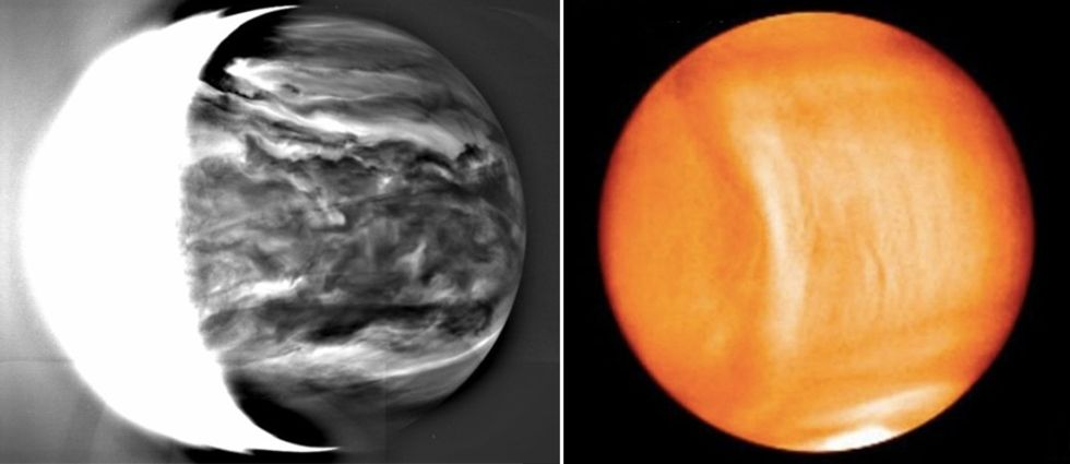 Akatsuki har levererat första bilderna från Venus