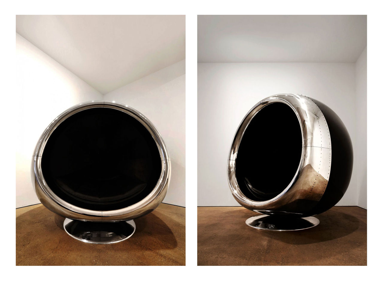Möblera med en jetmotor i vardagsrummet