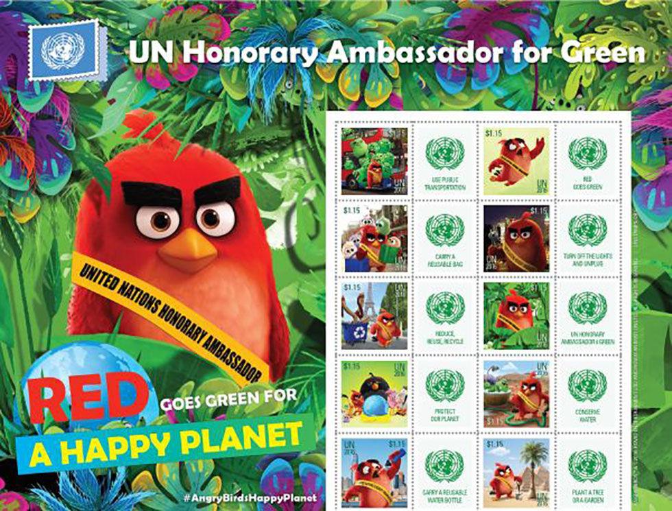 Angry Birds blir frimärke för att uppmärksamma Jordens Dag