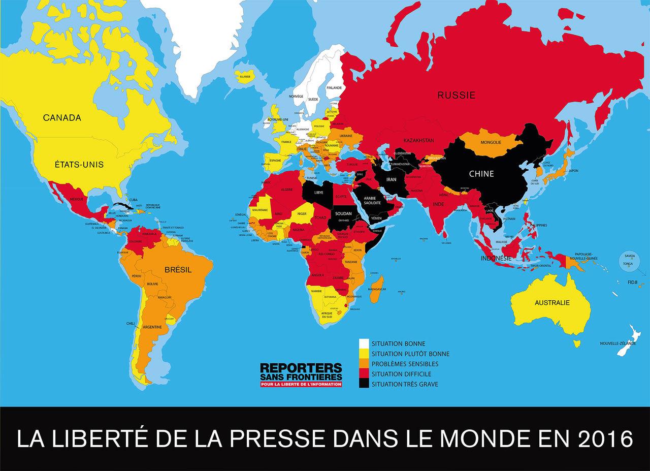 Sverige åtta på pressfrihetslista över världens länder