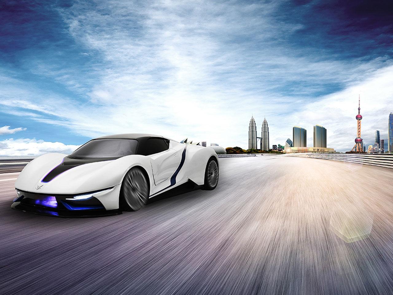 BAIC presenterar den eldrivna superbilen Arcfox-7