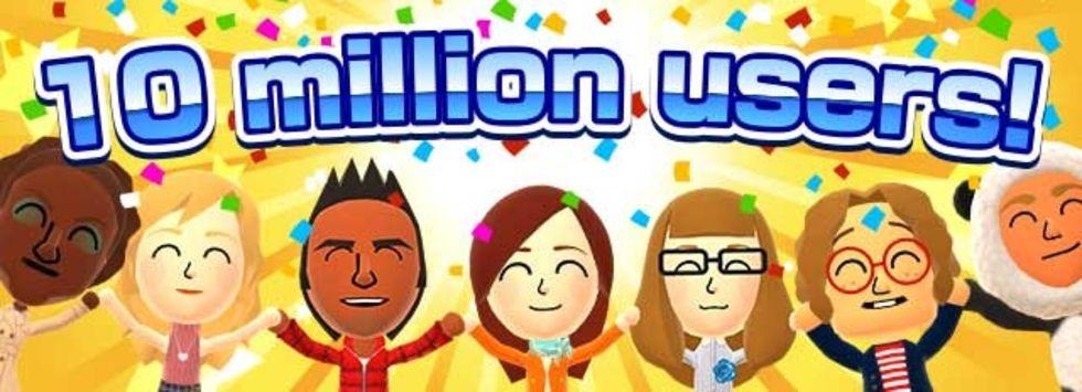 Miitomo har tio miljoner användare