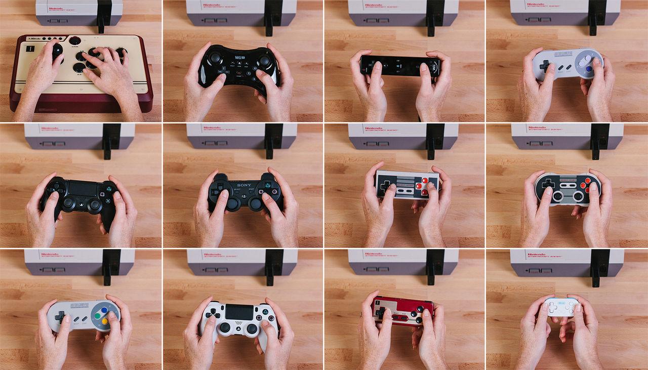 Använd valfri blåtandshandkontroll med NES