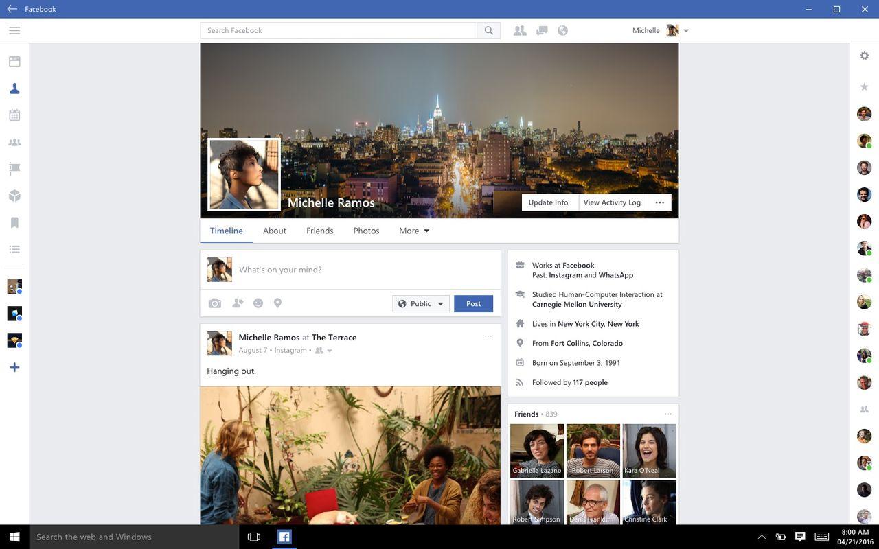 Facebook och Messenger släpps till Windows 10