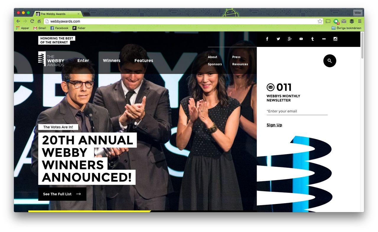 Svenska byråer tog hem fem Webbys
