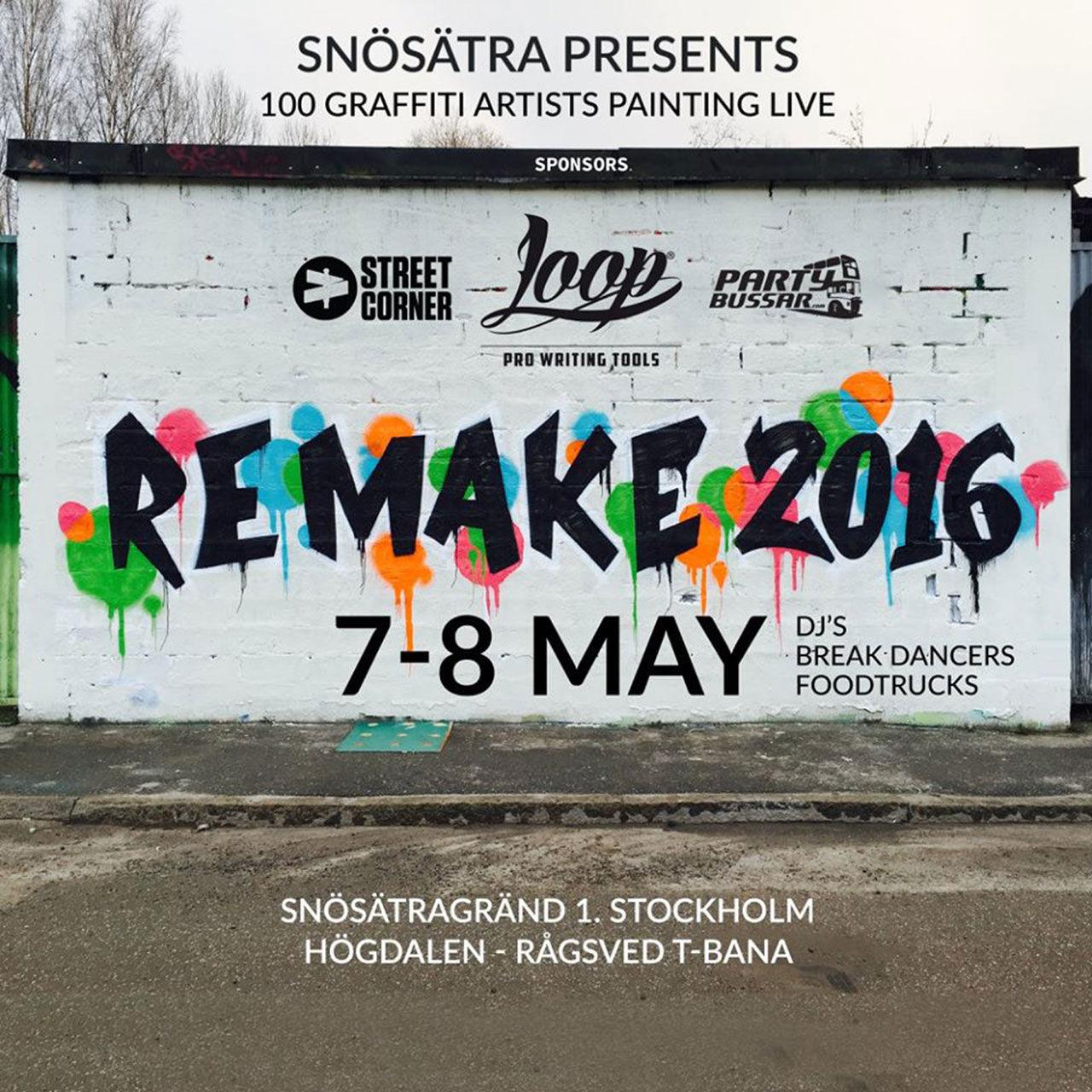 Nordens största graffiti-event nu i helgen