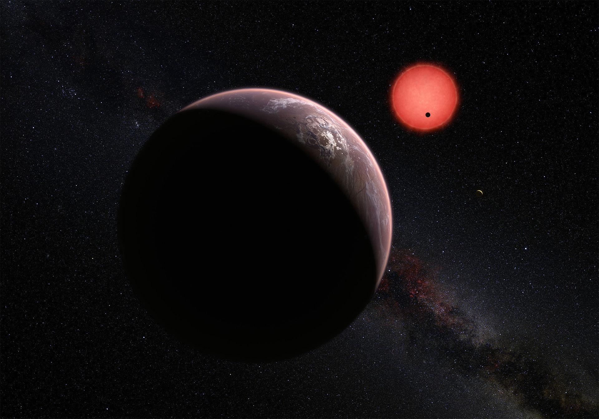 Astronomer hittar tre planeter som eventuellt kan vara beboeliga