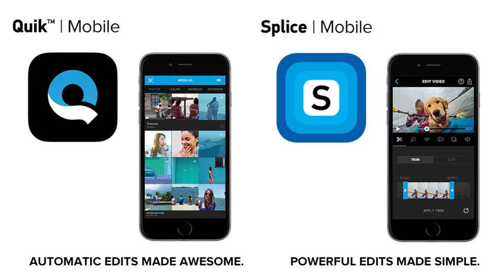 GoPro släpper lös redigeringsapparna Quik och Splice