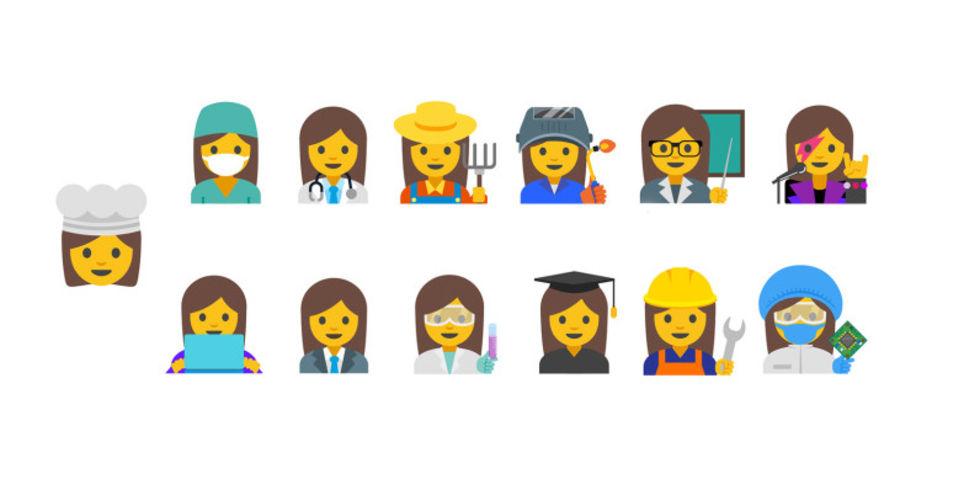 Google föreslår nya emojis som visar vad man arbetar med