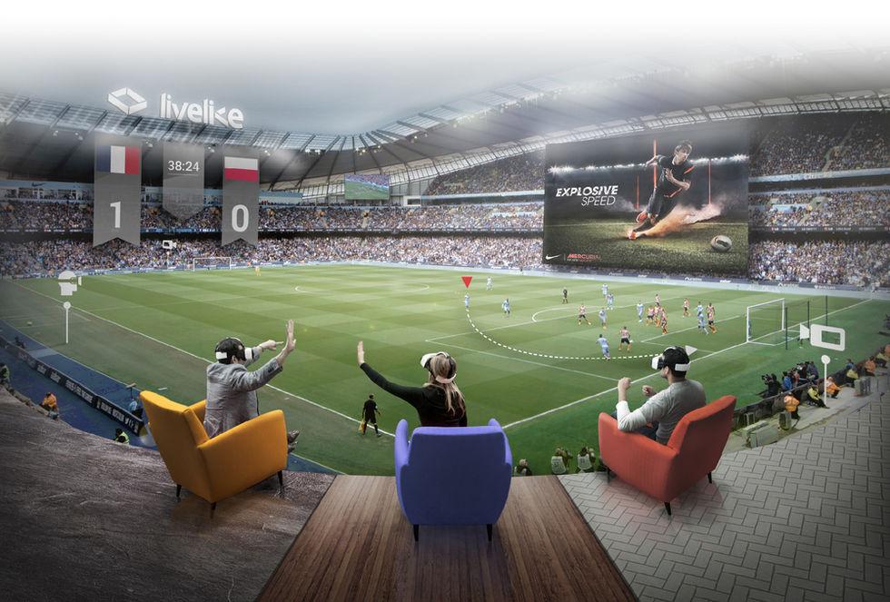Nu kommer fotbollsmatcher i VR