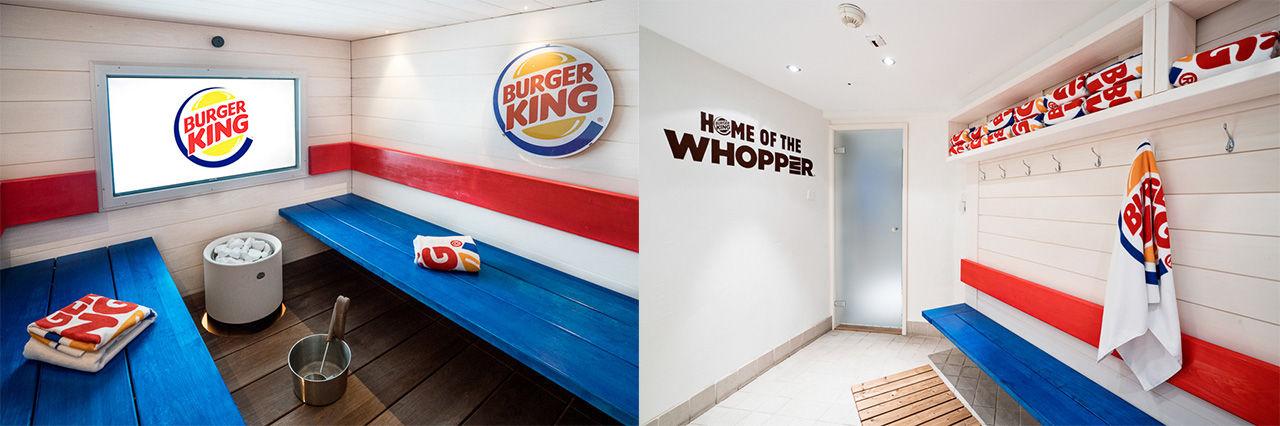 Självklart har Burger King i Finland en bastu
