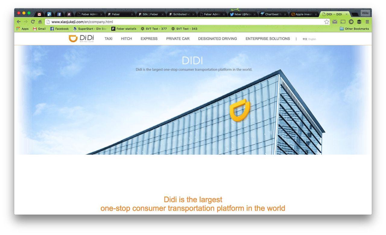 Apple köper in sig i kinesiska Didi Chuxing