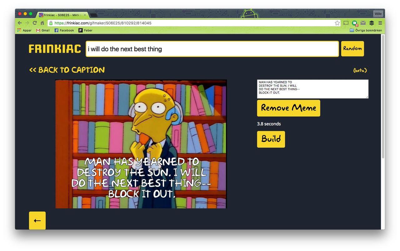 Fixa Simpsons-gifar till alla ögonblick