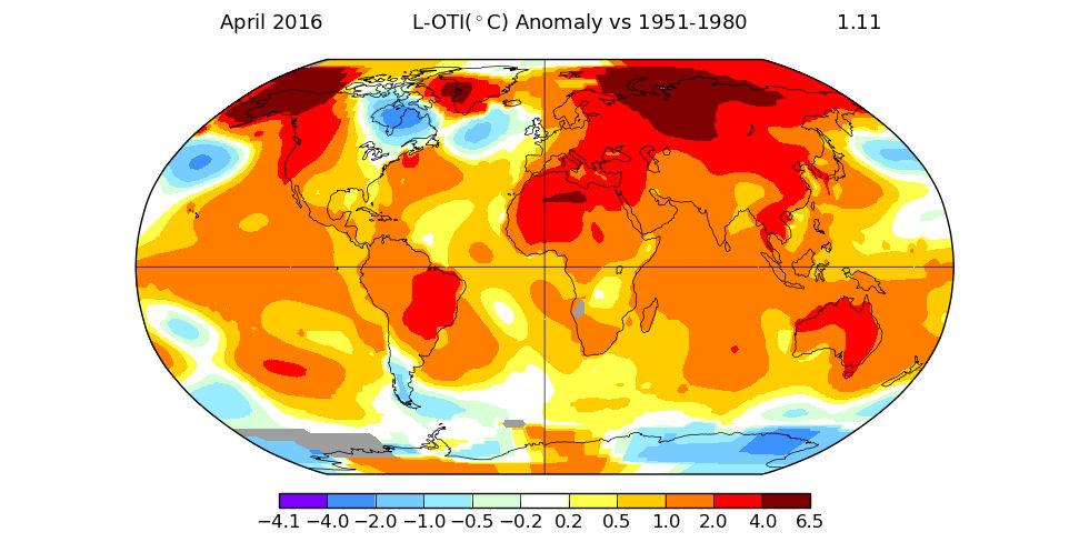 Även april slår värmerekord
